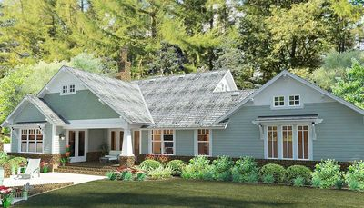 3 Bedroom House Plan With Swing Porch - 16887WG thumb - 18
