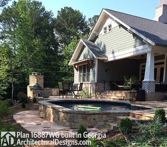 3 Bedroom House Plan With Swing Porch - 16887WG thumb - 13