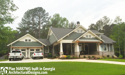 3 Bedroom House Plan With Swing Porch - 16887WG thumb - 03