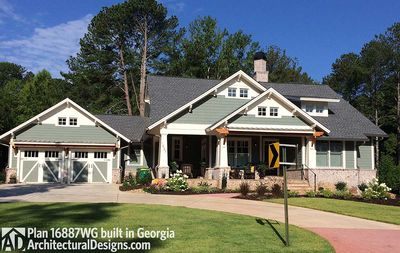 3 Bedroom House Plan With Swing Porch - 16887WG thumb - 02