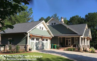 3 Bedroom House Plan With Swing Porch - 16887WG thumb - 07