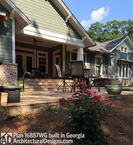 3 Bedroom House Plan With Swing Porch - 16887WG thumb - 17