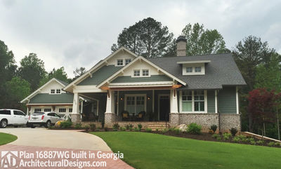 3 Bedroom House Plan With Swing Porch - 16887WG thumb - 04
