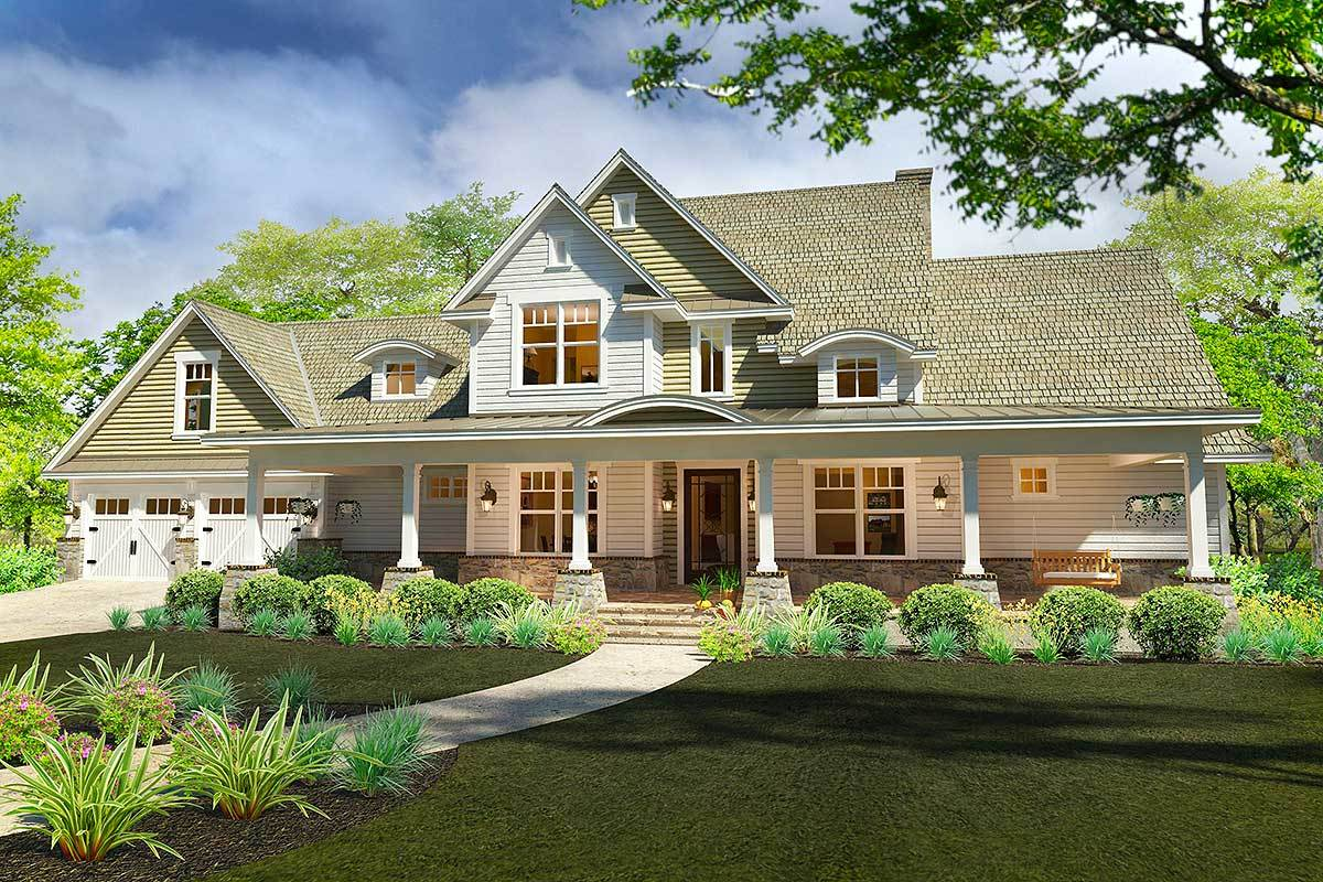 Rockin 39 farmhouse with bonus room 16889wg for Farmhouse plans with bonus room