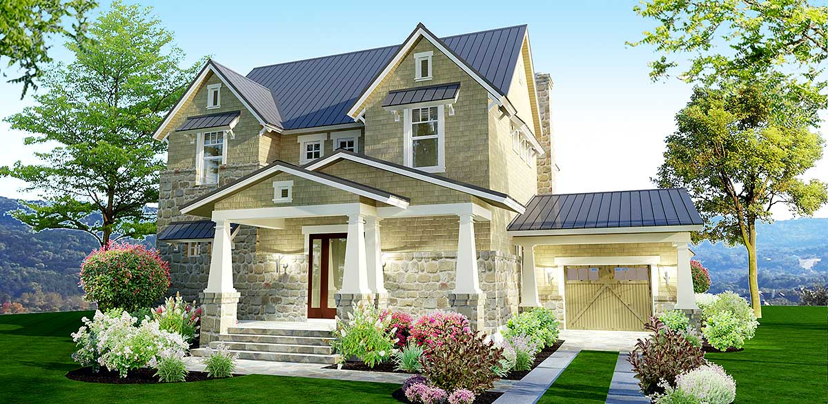 3 bedroom stone farmhouse plan 16891wg architectural - Stone house designs and floor plans ...