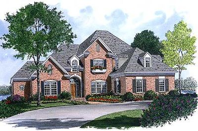 Inviting brick exterior 1705lv architectural designs for Transitional house plans