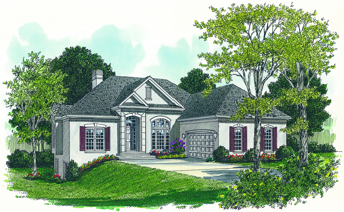 With views to rear 1714lv architectural designs for Rear view home designs