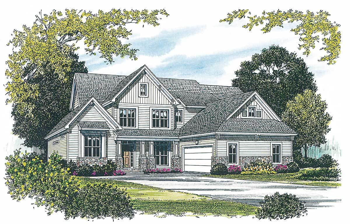Golf course living 1728lv architectural designs for Golf course house plans