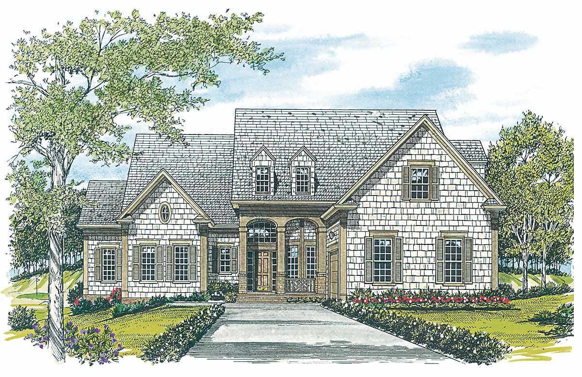 Suitable for a large family 1733lv architectural for House plans for large families