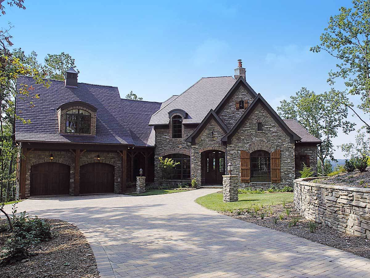 French country dream home 17504lv architectural for Dream country homes