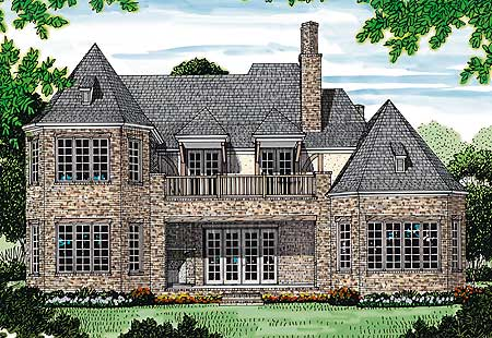 English tudor luxury 17508lv 1st floor master suite for Tudor home plans