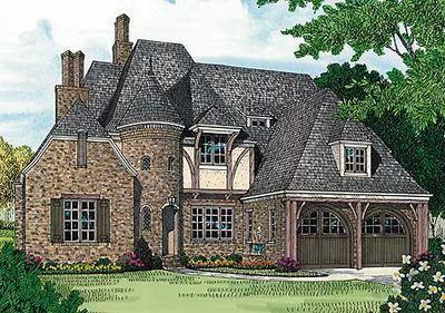 English tudor luxury 17508lv architectural designs for Tudor cottage plans