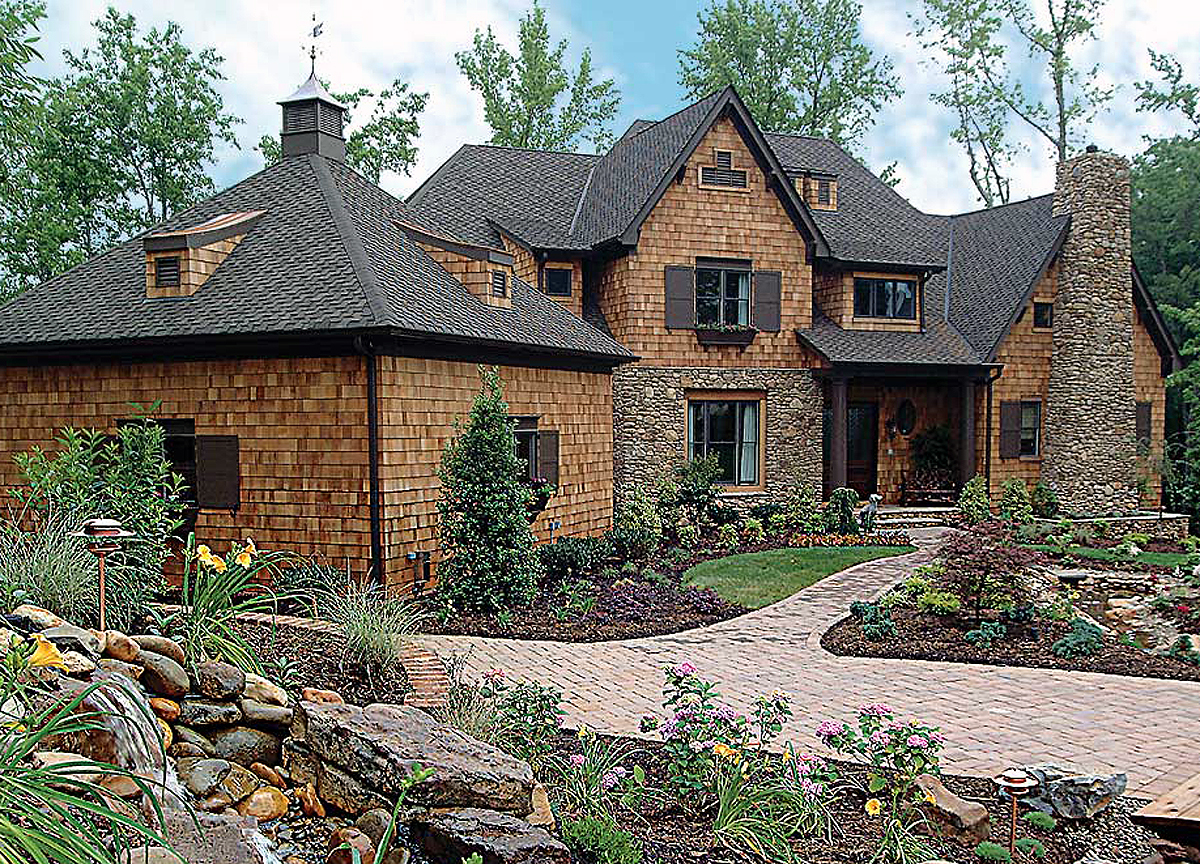 Stone Home Designs: Stone Accents And Steep Gables - 17531LV