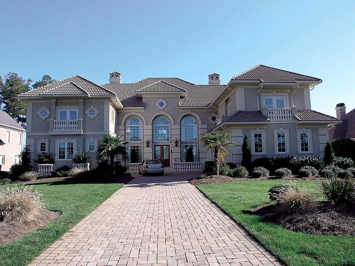 Mediterranean estate 17575lv architectural designs for Estate home plans
