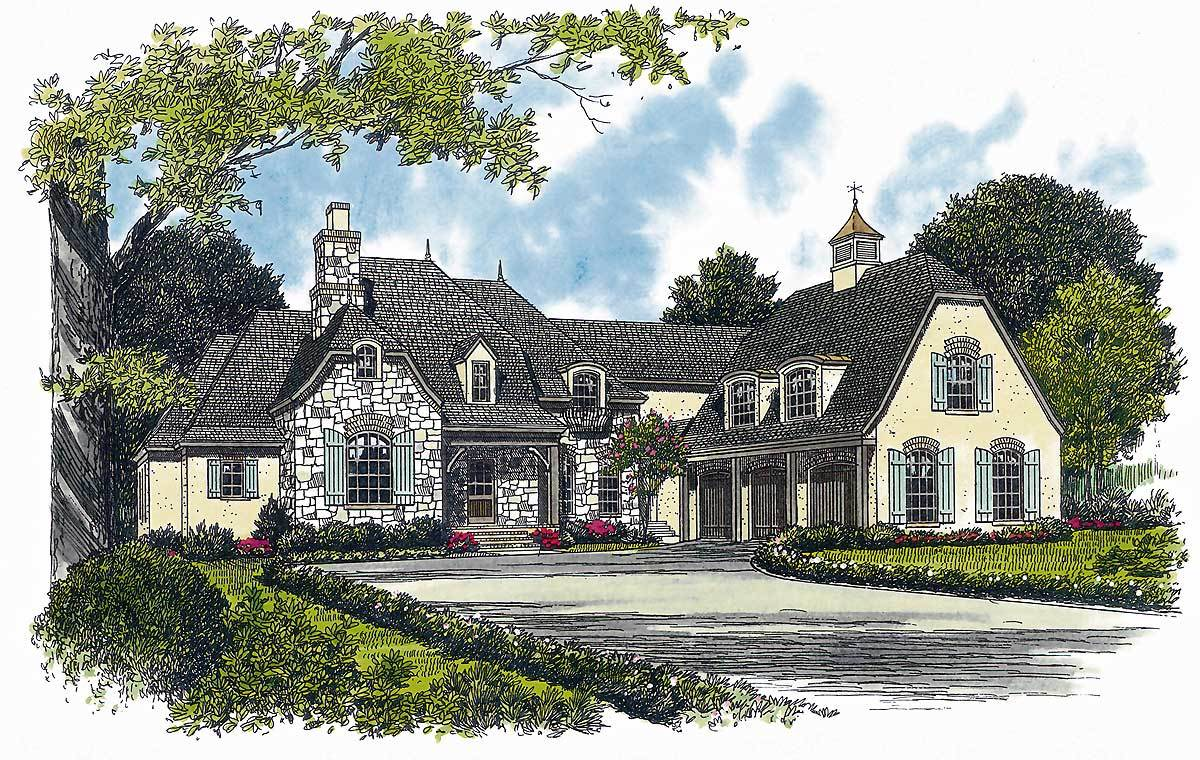 French country home plan 17576lv architectural designs for Large french country house plans