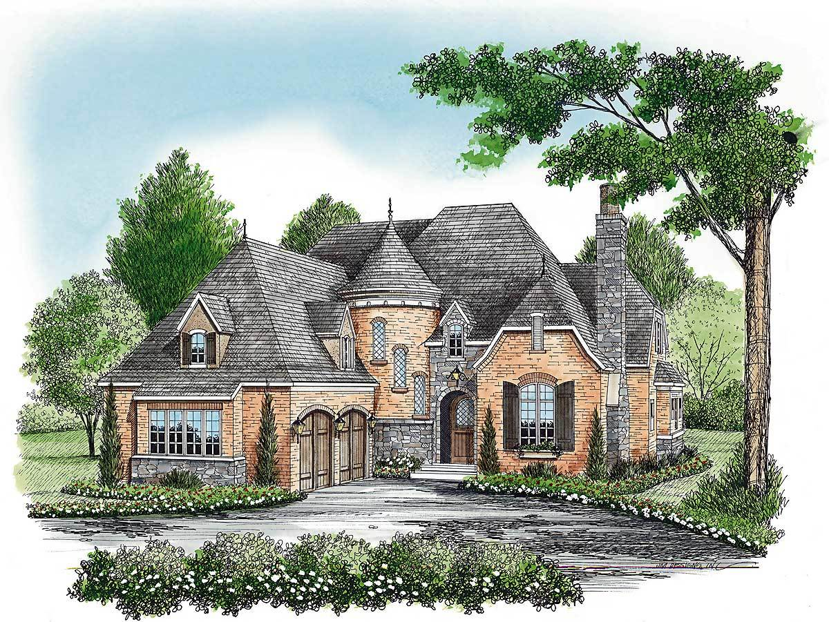 Charming european 17587lv architectural designs for Charming house plans