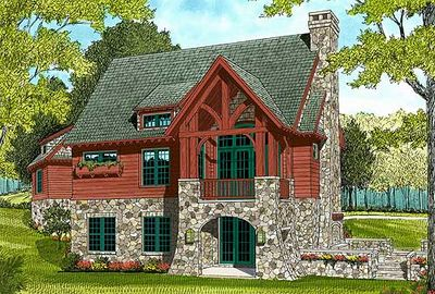 Quaint Cottage with Stone Accents - 17684LV thumb - 02