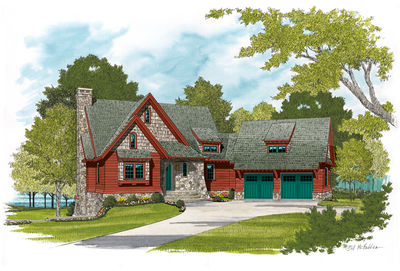 Quaint Cottage with Stone Accents - 17684LV thumb - 01