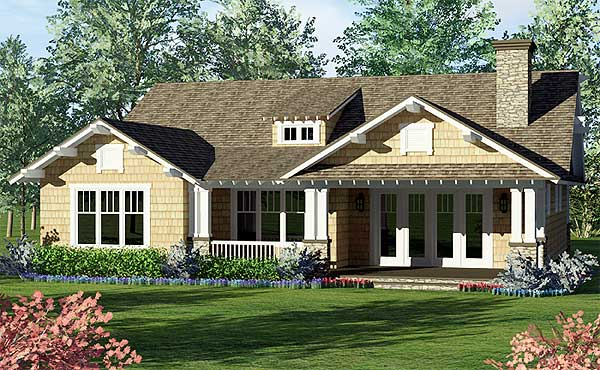 One story craftsman home plan 17704lv 1st floor master for Free craftsman house plans