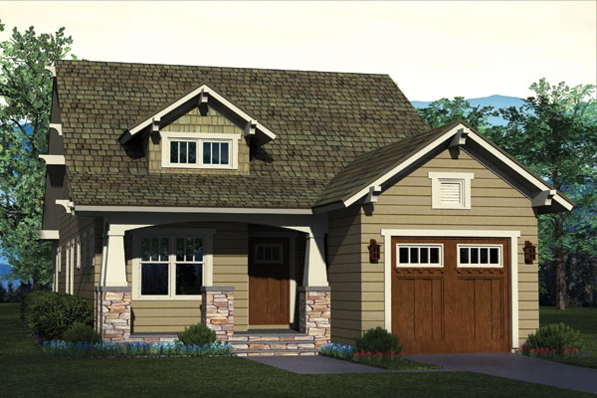 Long and narrow craftsman house plan 17732lv for Narrow craftsman house plans