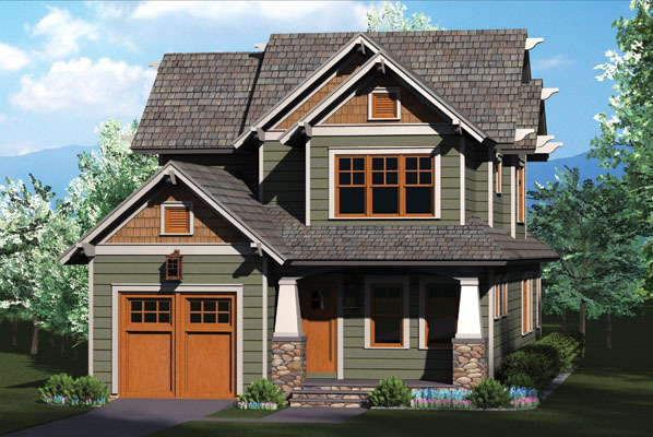 Rustic craftsman home plan 17737lv architectural for Rustic craftsman house plans