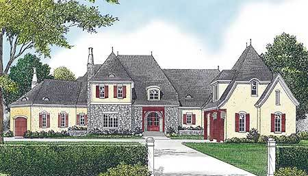Refined french country chateau 17761lv architectural for Large french country house plans