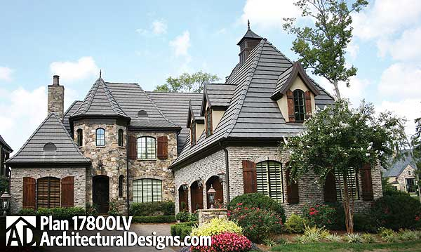 Superb 3 bed french country estate home 17800lv 1st for Country estate home plans