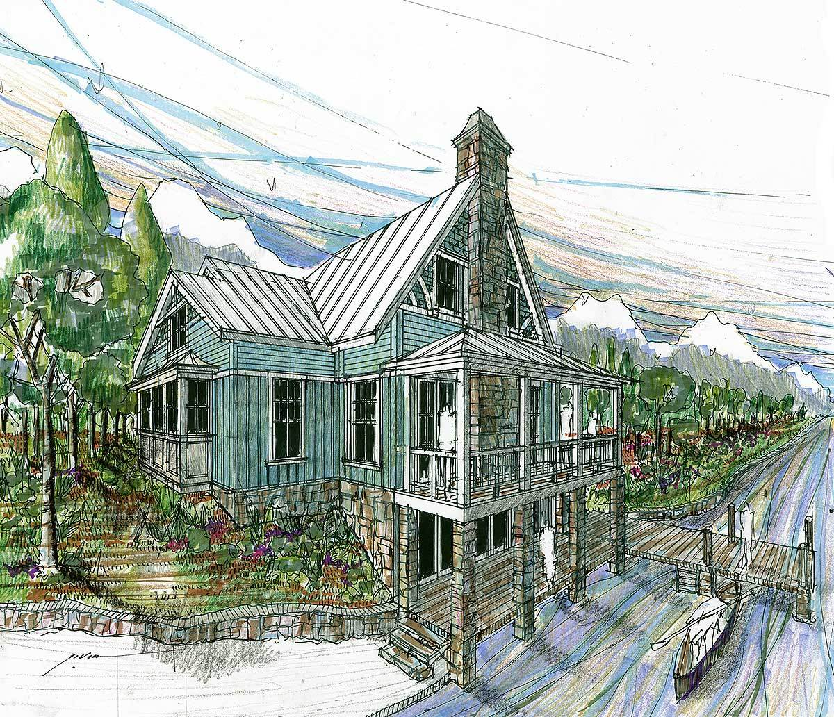 Striking rustic vacation house plan 1788dw for Rustic vacation home plans