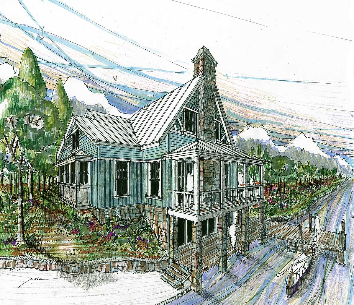 Striking Rustic Vacation House Plan 1788dw