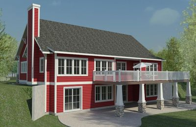 Open cottage house plan 18238be 1st floor master suite for Contemporary house plans with walkout basement