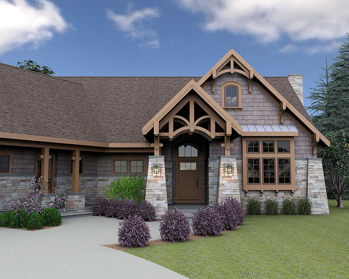 Mountain escape with bonus living suite 18248be for Mountain vacation home plans