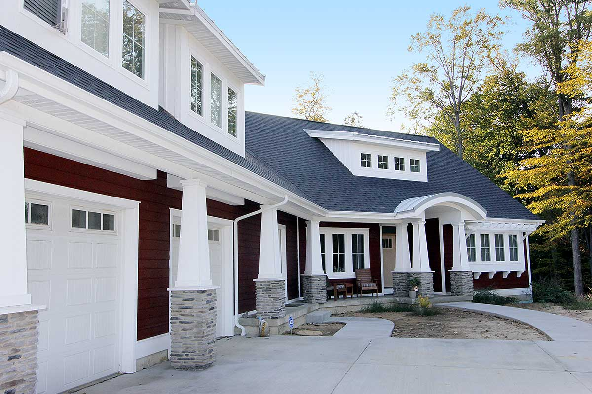Red cottage with in law suite 18249be 1st floor master for Building an in law cottage