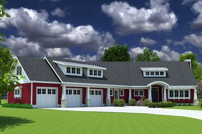 Red Cottage with In-Law Suite - 18249BE thumb - 01