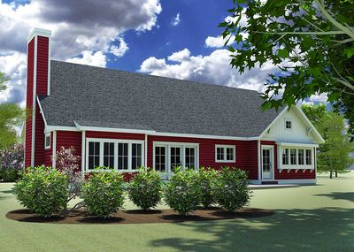 Red Cottage with In-Law Suite - 18249BE thumb - 03