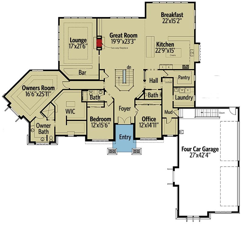 Rugged Good Looks - 18256BE floor plan - Basement