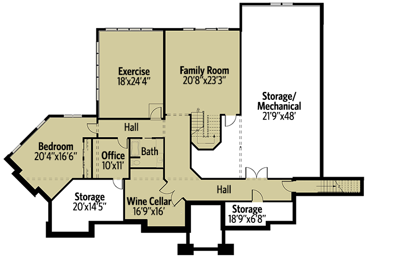Rugged Good Looks - 18256BE floor plan - Main Level