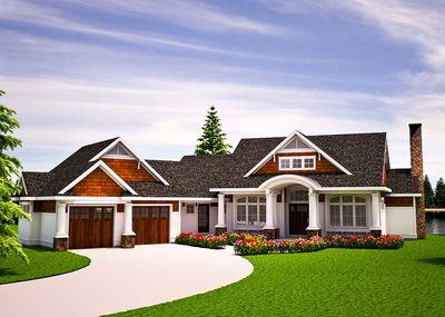 One Level Vacation Home Plan - 18262BE thumb - 01