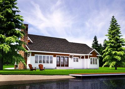One Level Vacation Home Plan - 18262BE thumb - 03