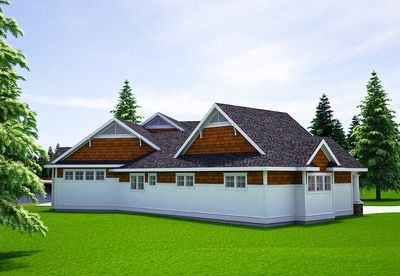 One Level Vacation Home Plan - 18262BE thumb - 04