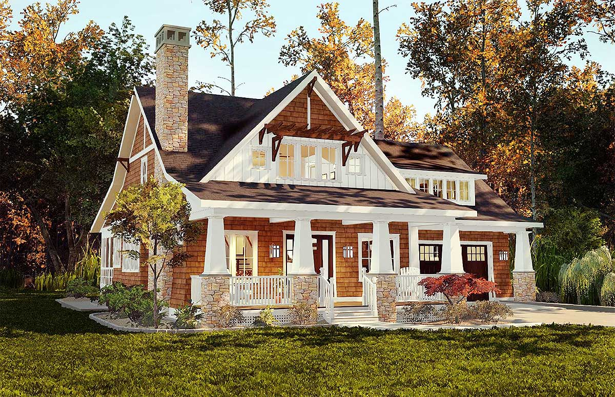 Architectural designs for Cottage house plans with porch