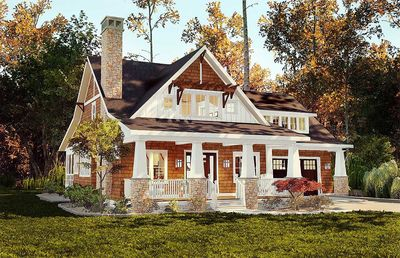 Storybook Bungalow With Screened Porch - 18266BE | Architectural ...