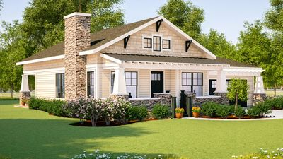 Simply Simple One Story Bungalow - 18267BE | Architectural Designs ...