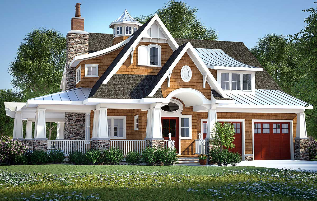 Gorgeous shingle style home plan 18270be architectural for House lans
