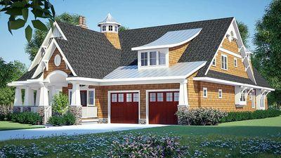 Gorgeous Shingle-Style Home Plan - 18270BE thumb - 02