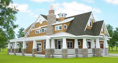Gorgeous Shingle-Style Home Plan - 18270BE thumb - 03