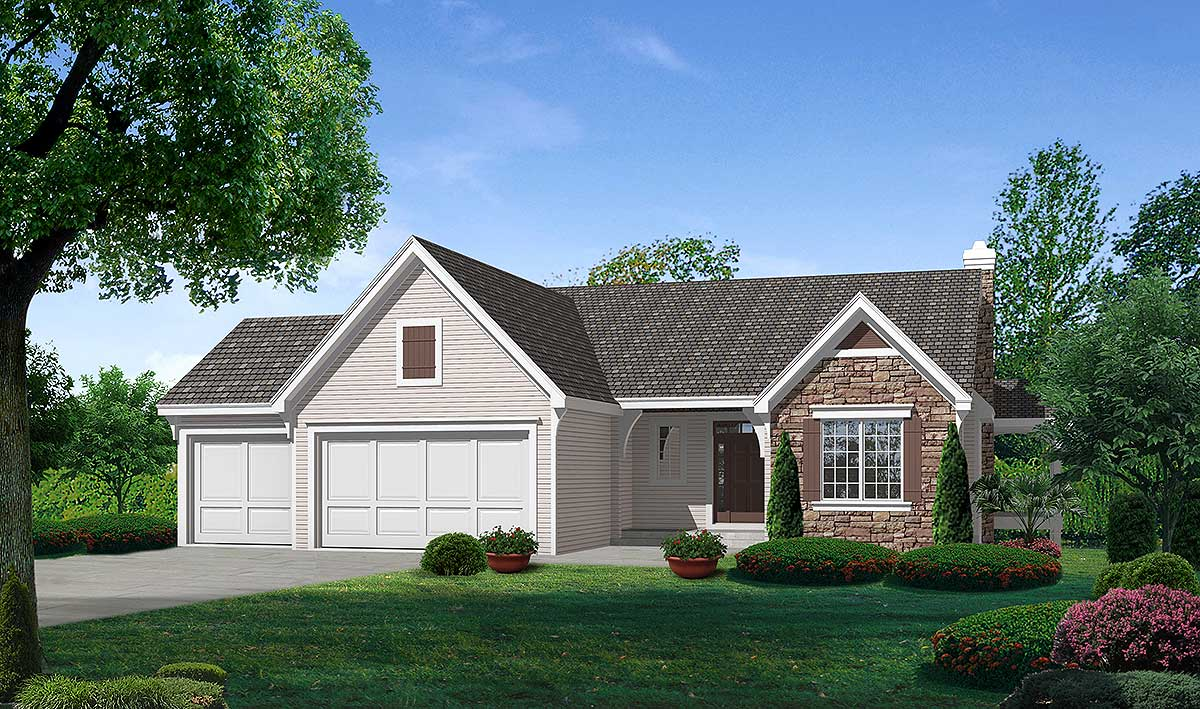 Attractive ranch home plan 18521wb 1st floor master for Architecturaldesigns com house plan 56364sm asp