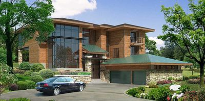 Stunning, Contemporary House Plan - 18560WB thumb - 02