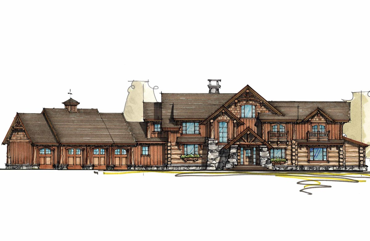 Mountain lodge with sun room 18704ck architectural for Sun house plans