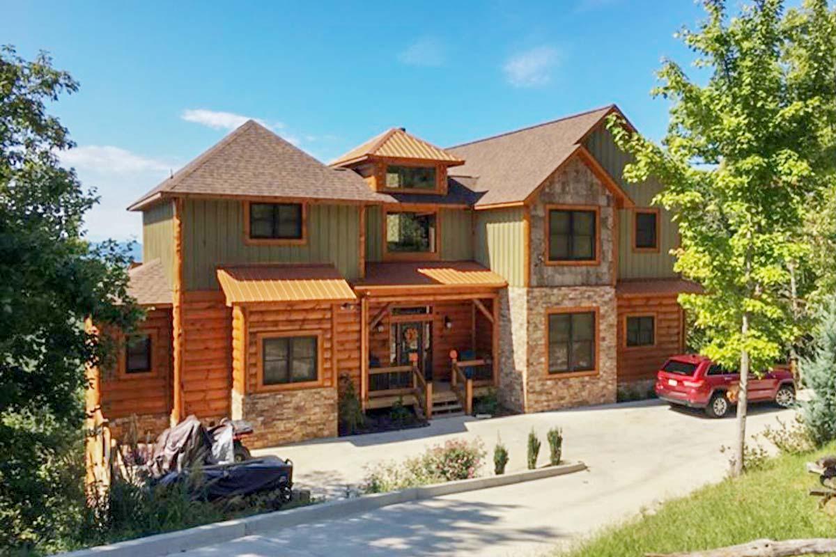 Lodge Home Plan with Second Floor Bridge - 18718CK ...