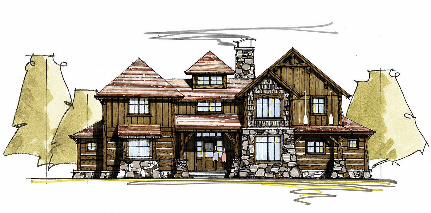 Rugged Mountain Home Plan 18734ck 1st Floor Master